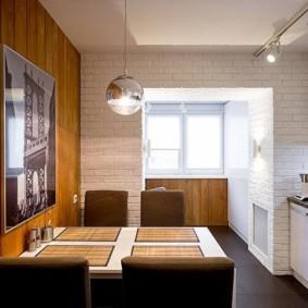 Бамбуковые салфетки на кухонном столе