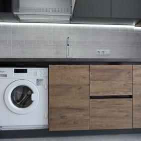 Место для машинки в кухонном гарнитуре