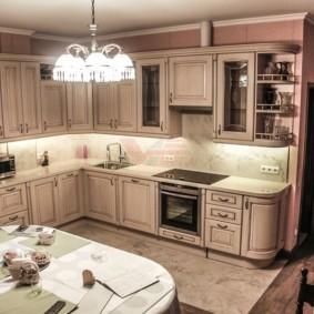 Освещение кухни в стиле классики