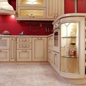 Кухонный шкаф со встроенной подсветкой