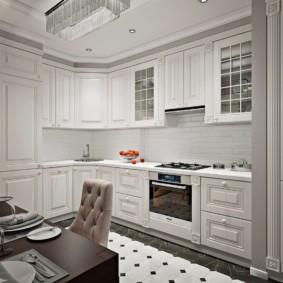 Плитка кабанчик на кухонном фартуке