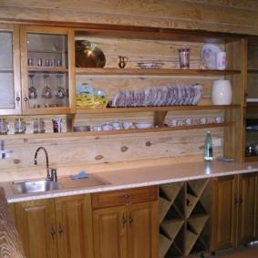Самодельная мебель для дачной кухни
