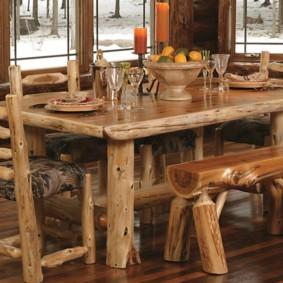 Деревянная мебель в стиле рустик