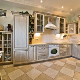 Кухонный пол из керамической плитки