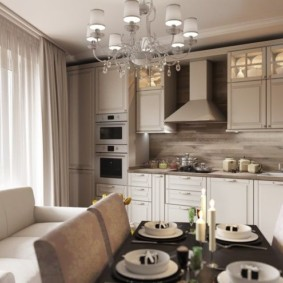 Обеденный сто в кухне-гостиной
