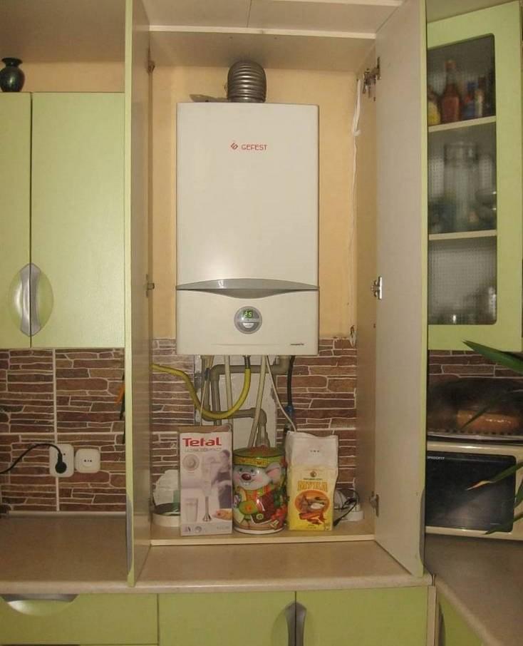 фото кухни с котлом индивид отопления