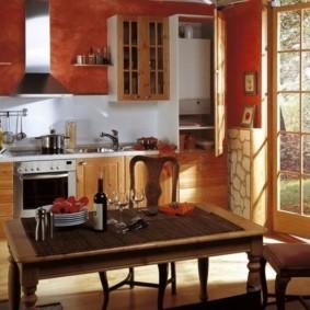 Кухонный стол на фигурных ножках