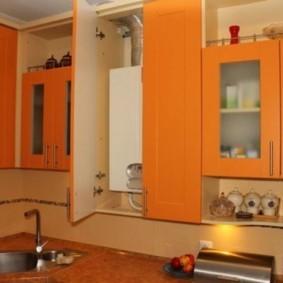 Морковные дверцы кухонной мебели