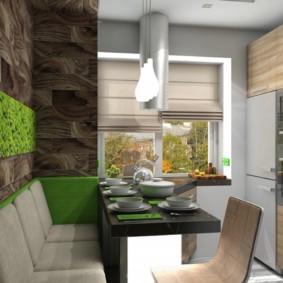 Дизайн небольшой кухни в эко-стиле