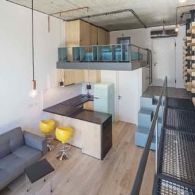 Двухуровневая квартира студия в современном стиле