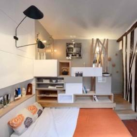 Квартира студия узкой формы