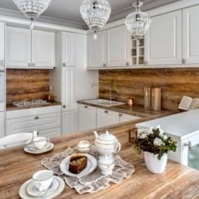 Ламинированный фартук под цвет кухонной столешницы