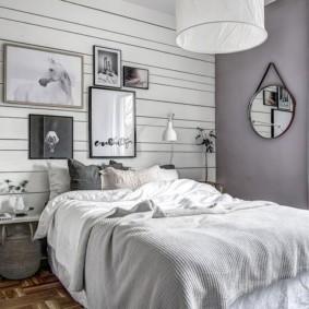 Декор спальной комнаты в деревенском стиле