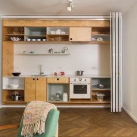 Кухня в квартире студии современного стиля