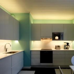 Скрытая подсветка кухонного фартука