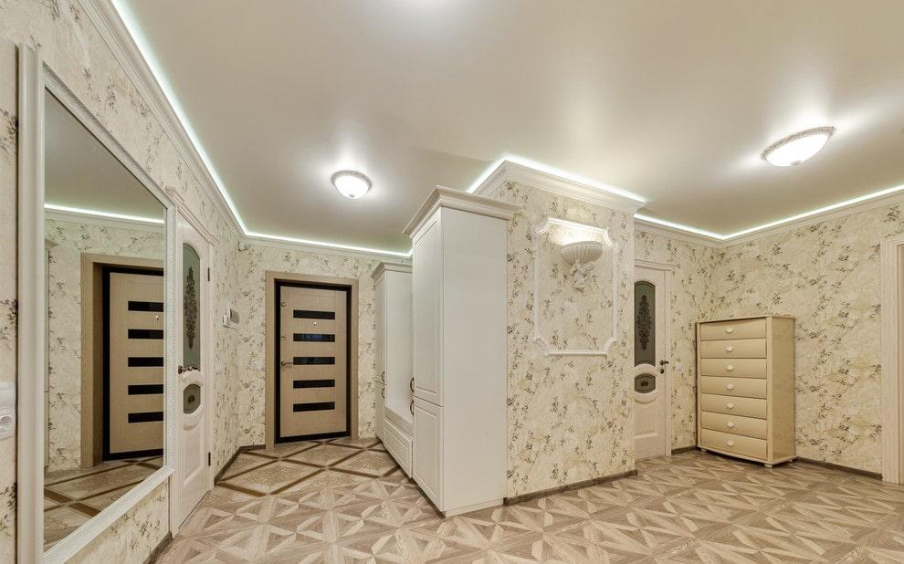оказаться крыше, навесной потолок в коридор фото штукатурки