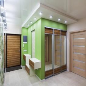 Двухуровневый потолок комбинированного типа