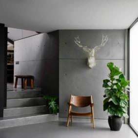 Серые поверхности бетонных стен