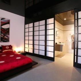 Раздвижные двери в японском интерьере
