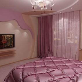 Розовая спальня в современном интерьере