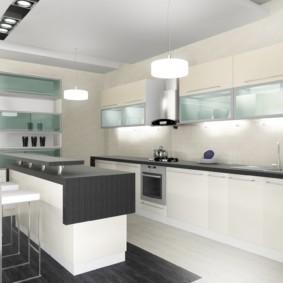 Кухня в стиле минимализма в частном доме