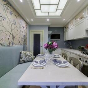Дизайн узкой кухни в городской квартире