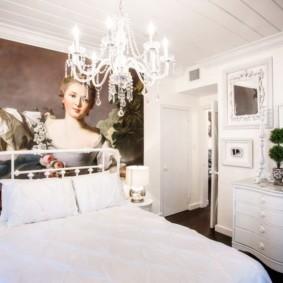 Фотообои в спальне стиля барокко