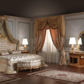 Шелковые ковры в интерьере спальни