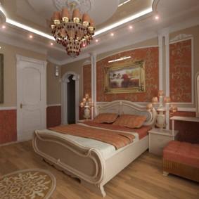 Декоративная подсветка двухуровневого потолка