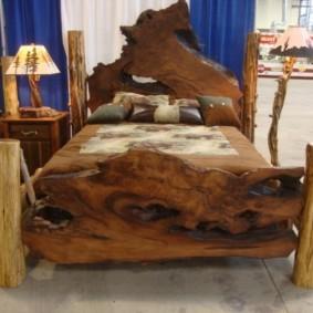 Деревянные ножки кровати для спальни кантри