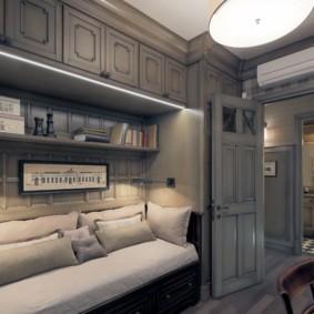 Серая мебель в интерьере квартиры