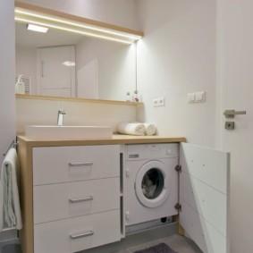 Тумба под стиральную машинку в ванной комнате