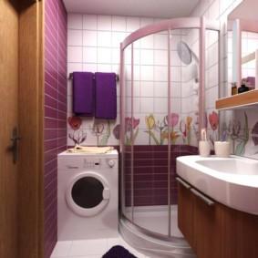 интерьер ванной с угловым душем