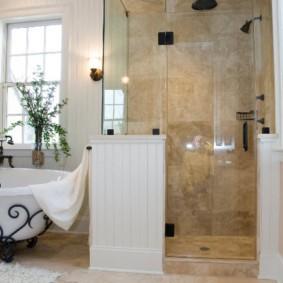 Керамическая облицовка ванной комнаты