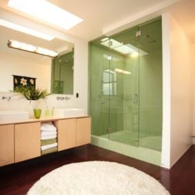 Ламинированный пол в ванной комнате