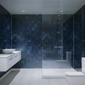 Керамогранит в ванной стиля минимализма