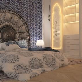 Шикарный интерьер настоящей арабской спальни