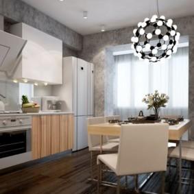 Дизайн кухни с серыми стенами