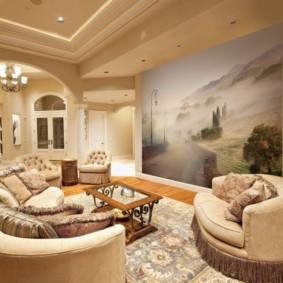 фотообои в гостиной фото декора