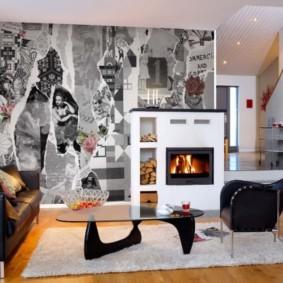 фотообои в гостиной фото дизайна