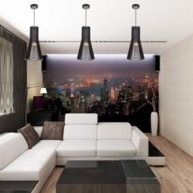 фотообои в гостиной фото интерьера