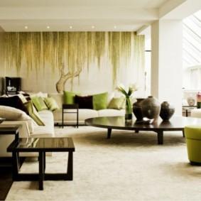 фотообои в гостиной идеи дизайна