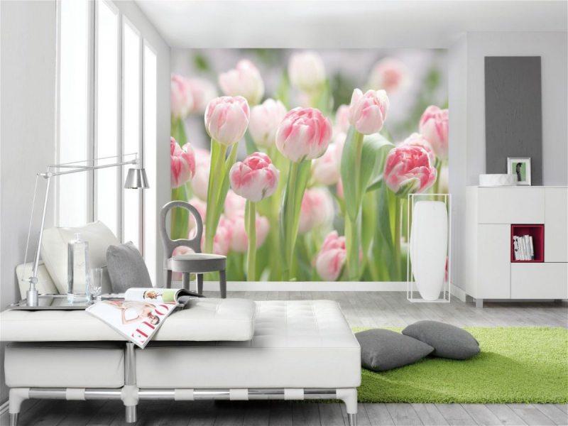 фотообои в гостиной идеи интерьер
