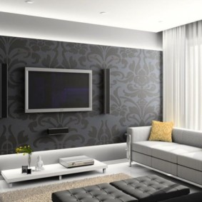 фотообои в гостиной виды дизайна