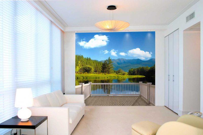 фотообои в гостиной виды интерьера