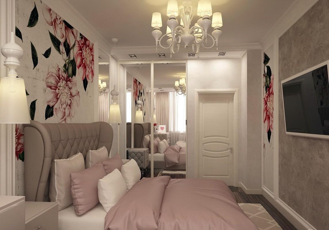 дизайн спальни 12 кв м со шкафом купе