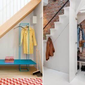 гардеробная под лестницей идеи оформление