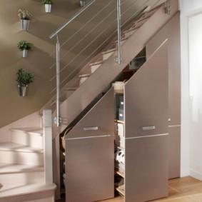 гардеробная под лестницей идеи вариантов