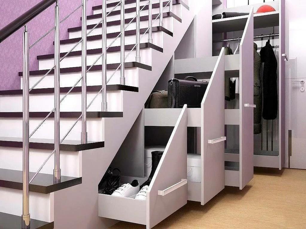 гардеробная под лестницей интерьер фото