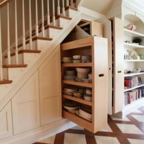 гардеробная под лестницей интерьер идеи